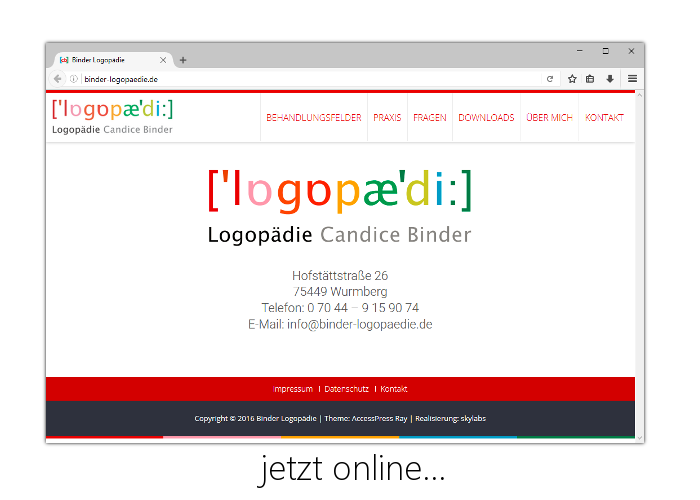Logopädie Candice Binder - Homepage Screenshot